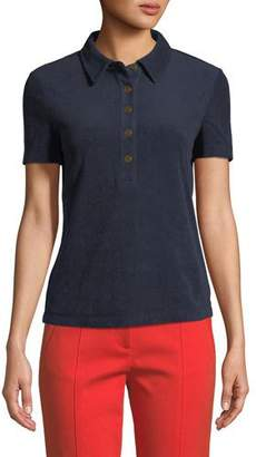 Tory Burch Lennox Terry Polo Shirt
