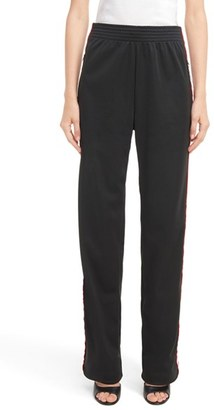 Women's Givenchy Logo Track Pants $1,095 thestylecure.com