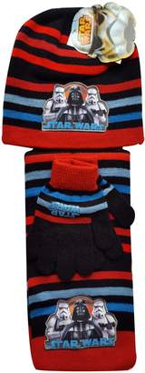 Star Wars Boys Official Licensed Gloves , Beanie Hat & Scarf Set One size 4-10 Years
