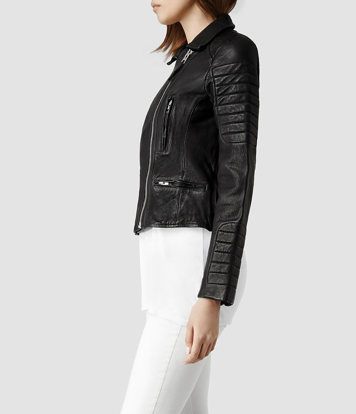 AllSaints Pitch Leather Biker Jacket