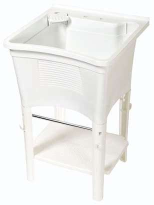 Zenith Products Zenith LT2005W 20 Gallon White Full Featured Ergo Freestanding Tub