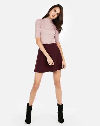 Express Ribbed Elbow Sleeve Turtleneck Sweater