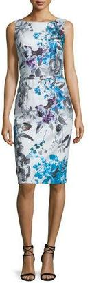 David Meister Sleeveless Floral-Print Belted Dress $237 thestylecure.com