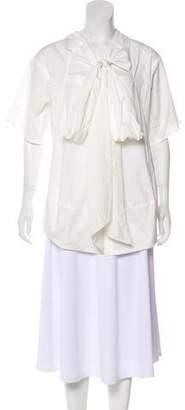 Donna Karan Short Sleeve Button-Up Top w/ Tags
