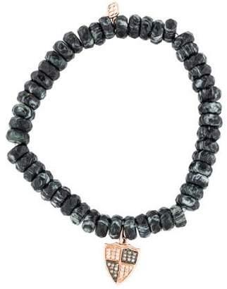 Sydney Evan 14K Diamond & Jasper Bead Bracelet