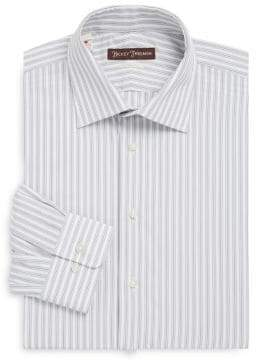 Hickey Freeman Wide Stripe Classic-Fit Cotton Dress Shirt