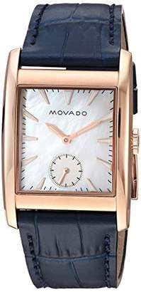 Movado Women's 'Heritage' Swiss Quartz Stainless Steel and Leather Watch
