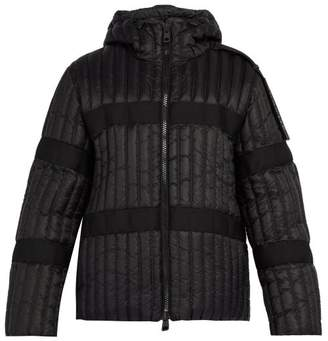 Craig Green 5 moncler 5 Moncler Halibut Logo Epaulette Hooded Jacket - Mens - Black