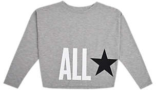 Converse Girls' Oversized T-Shirt, Grey Heather