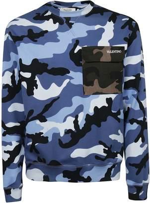 Valentino Camouflage Flap Pocket Sweatshirt