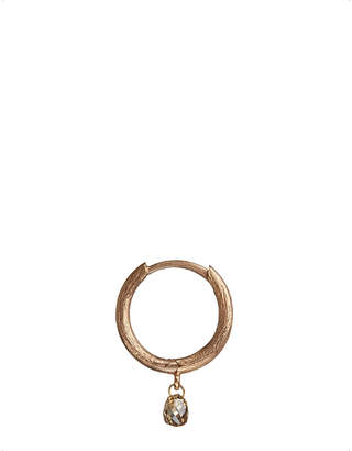 Rosegold Annoushka Hoopla diamond 18ct rose-gold hoop earring