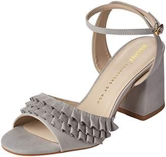 Bronx Women's BX 1254 BjaggerX Ankle Strap Sandals, (Grey), 40 EU