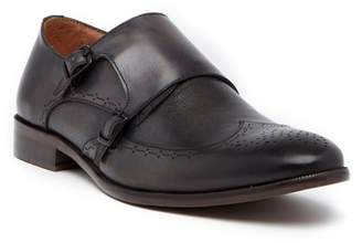 Vintage Foundry Double Monk Strap Wingtip Leather Loafer
