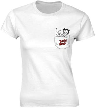 Betty Boop Official Women's in My Pocket Fitted T-Shirt - Crew Neck