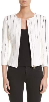 Versace Leather Panel Jacket