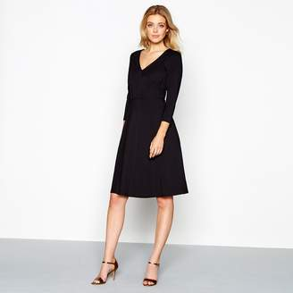 J by Jasper Conran Black V-Neck Skater Dress