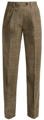 Giuliva Heritage Collection - Husband High Rise Merino Wool Trousers - Womens - Grey Multi