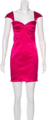 Torn By Ronny Kobo Satin Sheath Dress