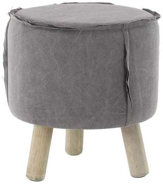 Brimfield & May Farmhouse Round Cushioned Wooden Foot Stool