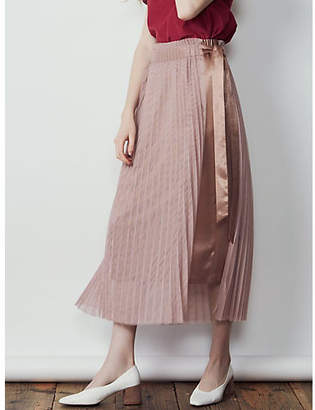 LAGUNAMOON (ラグナムーン) - LAGUNAMOON プリーツチュールラップサテンスカート