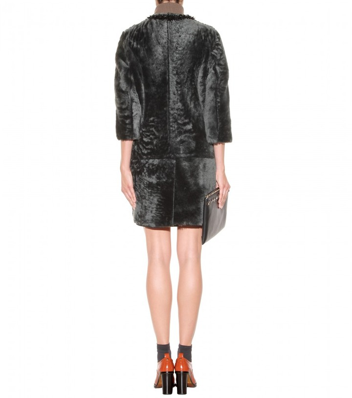 Marni Embellished shearling coat