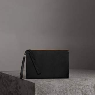 Burberry Grainy Leather Zip Pouch