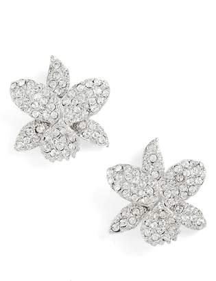 Nina Small Orchid Swarovski Crystal Stud Earrings