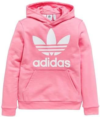 adidas Girls Trefoil Hoodie - Pink