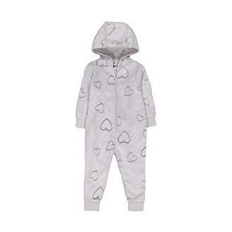 Mothercare Baby Girls Long Sleeve Heart Fluffy Onesie Pyjama Sets,(Manufacturer Size: 86)