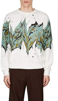 Dries Van Noten Men's Splash-Print Cotton Terry Sweatshirt