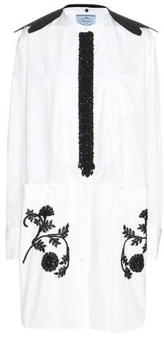 pradaPrada Embellished cotton dress