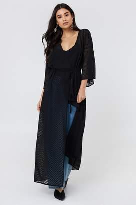 Na Kd Boho Structured Chiffon Coat Dress