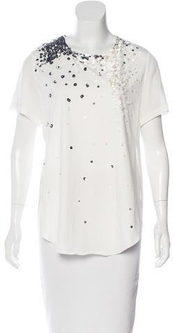 3.1 Phillip Lim 3.1 Phillip Lim Sequined Short Sleeve Top