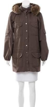 Alice + Olivia Fur-Trimmed Hooded Coat