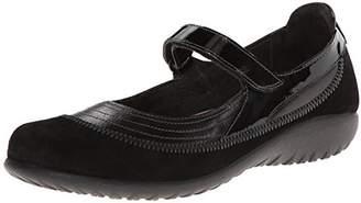 Naot Footwear Women's Kirei Wide Maryjane Black Madras Leather/ - 35 W EU / 4-4.5 D (W) US