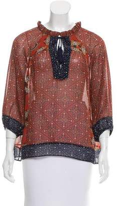 MISA Los Angeles Printed Oversize Top w/ Tags