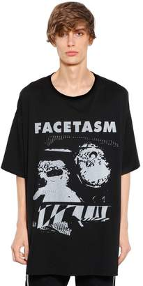 Facetasm Oversize Printed Cotton Jersey T-Shirt