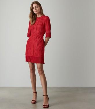 Reiss FREYA LACE DETAIL DRESS Red
