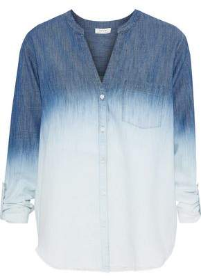 Soft Joie Normana Degrade Cotton-blend Chambray Shirt