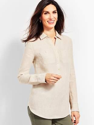 Talbots Linen Camp Shirt - Oatmeal