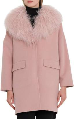 P.A.R.O.S.H. Coat With Fur Neck