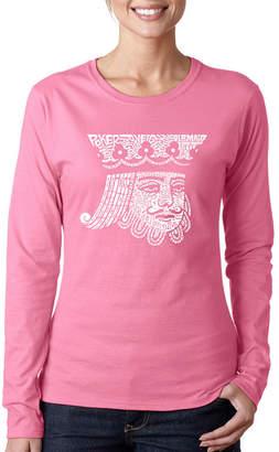 LOS ANGELES POP ART Los Angeles Pop Art King Of Spades Long Sleeve Graphic T-Shirt