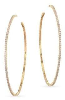Fallon Armure Pave Hoop Earrings