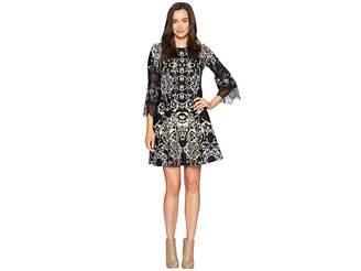 Gabby Skye Lace Inset Sleeve Dress