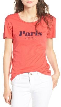Women's Sundry Paris Cotton Graphic Tee $77 thestylecure.com