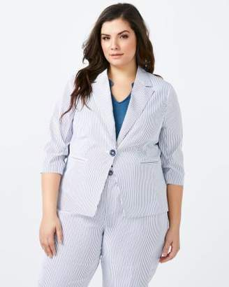 Penningtons Striped Blazer with 3/4 Sleeves - In Every Story