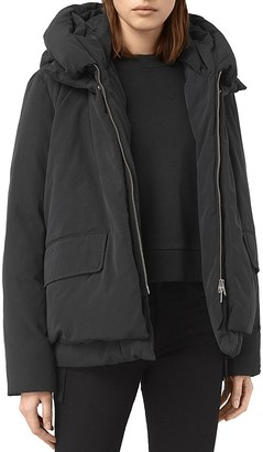 ALLSAINTS Estra Hooded Jacket $560 thestylecure.com