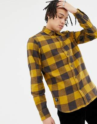 Pull&Bear flannel shirt in mustard check