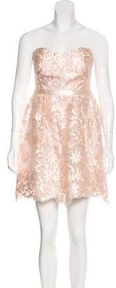 Marchesa Strapless Patterned Dress