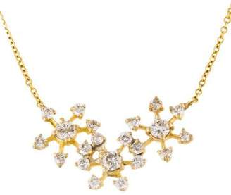 Farah Tanya 18K Triple Diamond Snowflake Necklace